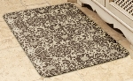 Wellness Mats 32SC105A Couture Pattern Decorative Mat Cover, 3 x 2-ft, Almond Mocha