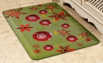 Wellness Mats 32SC123H Holiday Pattern Decorative Mat Cover, 3 x 2-ft, Holiday Ornament-1