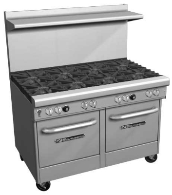 Southbend 4482AC-6L NG 48-in Range w/ 7-Burners, 2-Non-Clog-Right, Convection Oven & Cabinet, NG