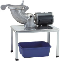 Cretors 503512 Slaw & Cheese Cutter, Electric, W/Floor Stand & Bucket
