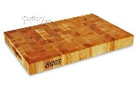 John Boos CCB1812175 Maple Chopping Block, Reversible, 18 in x 12 in x 1-3/4 in Thick, Hand Grips