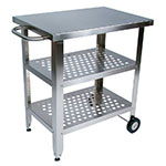 John Boos CUCAV02 Cucina Elegante Cart, 20 x 30 x 35 in H, S/S Base, 1.5 in Stainless Steel Top