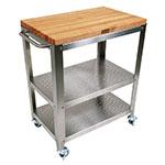 John Boos CU-CULART30 Cucina Culinarte' Cart, 20 in W x 30 in L x 35 in H, Removable Top, S/S Shelf
