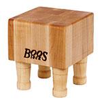 John Boos MCB1 Mini Cheese Block, Hard Maple, 4 Wooden Feet, 6 x 6 in, 4 in Thick