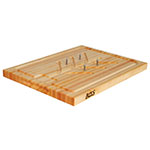 John Boos SLIC Slicer Board, Removable Meat Pins, Tree & Juice Groove, 20 x 15 x 1-1/4 in