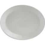Tuxton AMU021 11-1/8-in Oval Modena Platter, Pearl White