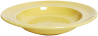 Tuxton CSD-090 Rim Soup Bowl, 12 oz, 9 in, Concentrix Saffron