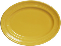 Tuxton CSH-096 Platter, 9-3/4 in x 6-1/2 in Oval, Concentrix Saffron