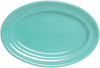 Tuxton CTH-136 Platter, 13-3/4 in x 10-1/2 in, Oval, Concentrix Cilantro