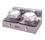 Wells W-B2 Dual Round Waffle Baker w/ Thermostatic Control, Export