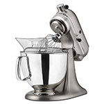 Kitchen Aid KSM152PS Custom Metallic Series Stand Mixer with Pouring Shield, 5 Quart, Metal Nickel