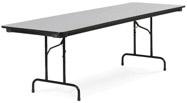 Virco 603060W 30 x 60 in Rectangular Folding Table - Walnut
