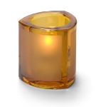 Hollowick 5160FA Thick Triangle Tealight Lamp For HD8, Frosted Amber