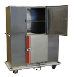 Carter Hoffmann BB200D Heated Banquet Cabinet, Dutch Door, 200-Plate Capacity, Stainless
