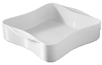 Revol 640332 9-in Porcelain Square Dish w/ Handles, 2.2-qt Capacity, White