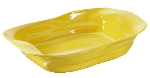 Revol 641515 15-in Crumpled Rectangular Roasting Dish, 2.7-qt, Seychelles Yellow