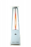Lava Heat Italia LH PLAT WHITE NG Portable Outdoor Lava Heater w/ Infrared Remote Control, Platinum White, NG