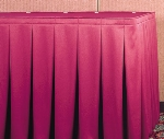 Snap Drape WYN5V1329 RSBRY Wyndham 13-ft Table Skirt, Continuous Pleat, Velcro Attachment, Raspberry