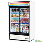 TRUE Refrigeration GDM-41LD 2-Section Glass Sliding-Door Merchandiser, LED, White, 41-cu ft