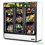TRUE Refrigeration GDM-72FC Floral Merchandiser, 3 Section/Glass Doors, 6 Shelves, Black, 72 cu ft