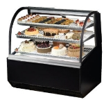 TRUE Refrigeration TCGR-48FA 48-in Curved Glass Refrigerated Bakery Case w/ Front Access