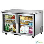 TRUE Refrigeration TUC-48G 49 in Undercounter Refrigerator, 2 Glass Doors, 12 cu ft