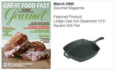 Lodge Cast Iron Seasoned 10.5 Square Grill Pan