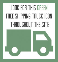 Green Free Shipping Truck Icon