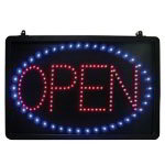 Lighted Open & Pizza Sign