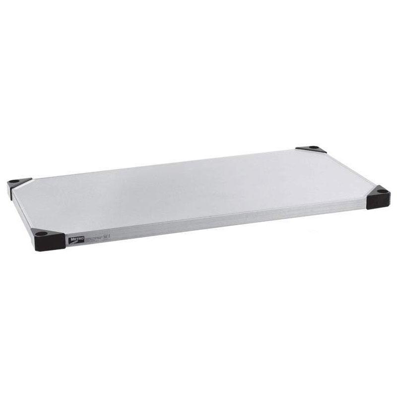 "Metro 2460FS Super Erecta® Stainless Steel Solid Shelf - 60"" x 24"""