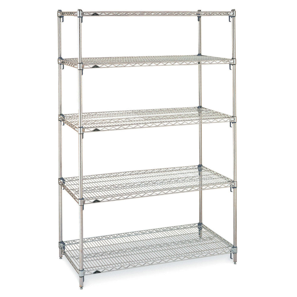 "Metro 5A437C Super Erecta® Chrome Wire Shelving Unit w/ (5) Levels, 36"" x 21"" x 74"""