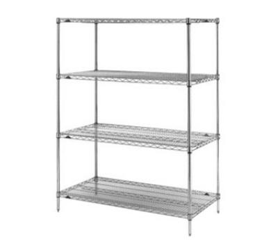 "Metro 5A577C Super Erecta® Chrome Wire Shelving Unit w/ (4) Levels, 72"" x 24"" x 74"""