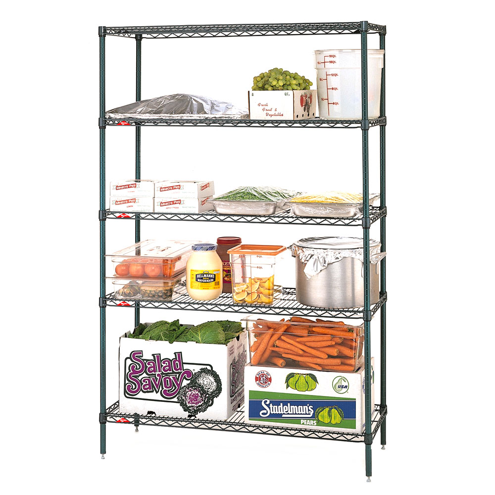"Metro 5N567K3 Super Erecta® Epoxy Coated Wire Shelving Unit w/ (5) Levels, 60"" x 24"" x 74"""