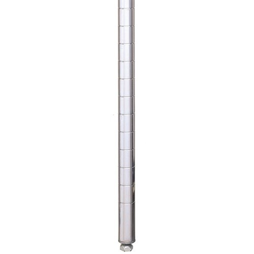 "Metro 63PS 62.43"" Super Erecta® Shelving Post w/ 2"" Number Increments, Stainless Steel"