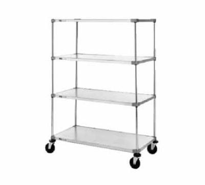 "Metro 63UP Super Erecta Post, 62"" H, Chrome-Plated, for use with Stem Casters"