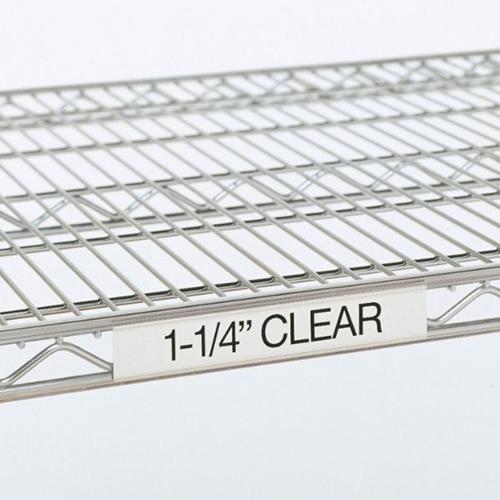 "Metro 9990CL2 Super Erecta® Label Holder - 19"" x 1.25"", Clear"