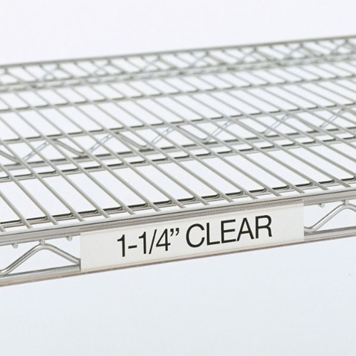 "Metro 9990CL30 Super Erecta® Label Holder - 25"" x 1.25"", Clear"