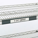 "Metro 9990P2 Super Erecta® Label Holder - 19"" x 1.25"", Gray"