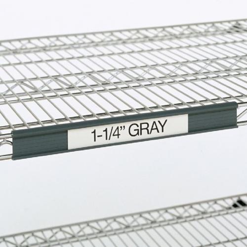 "Metro 9990P2 Super Erecta® Label Holder - 19"" x 1.25"", Gray"