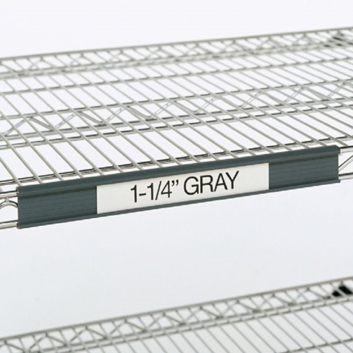 "Metro 9990P30 Super Erecta® Label Holder - 25"" x 1.25"", Gray"