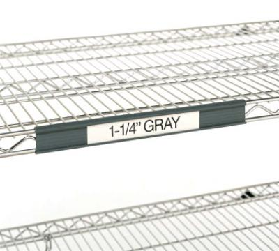 Metro 9990P4 Super Erecta Label Holder, 43 in x 1-1/4 in, Gray, Snap-On, No Labels