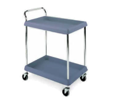 Metro BC20302DBU BC Series Deep Ledge Utility Cart w/ Casters & 2 Shelves , Blue