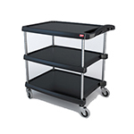 Metro BC203034BL Utility Cart - 3-Shelf, 400-lb Ca