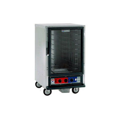 Metro C515-HFC-L C5 1/2-Height Heated Holding Cabinet, Clear Door, Lip Load Slides
