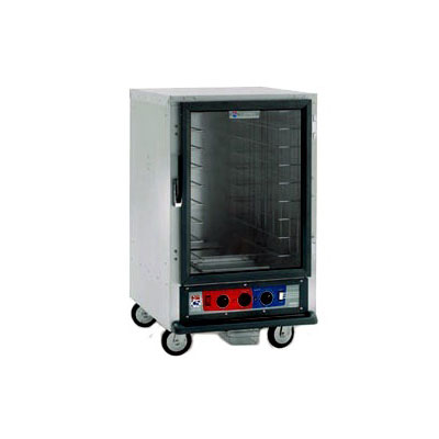 Metro C515-CFC-U C5 1/2-Height Heated Proof & Hold Cabinet, Clear Door, Universal Slides