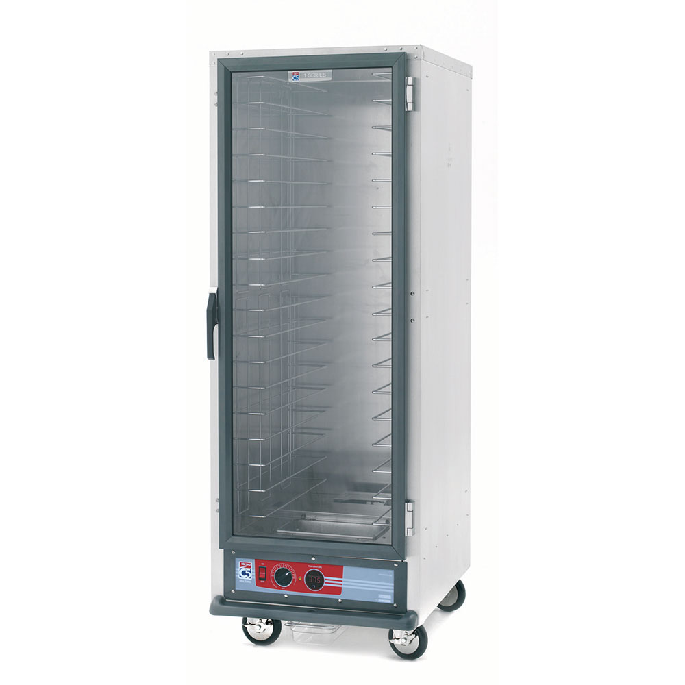 Metro C519-CFC-U C5 Full Height Heated Proof & Hold Cabinet, Clear Door, Universal Slides