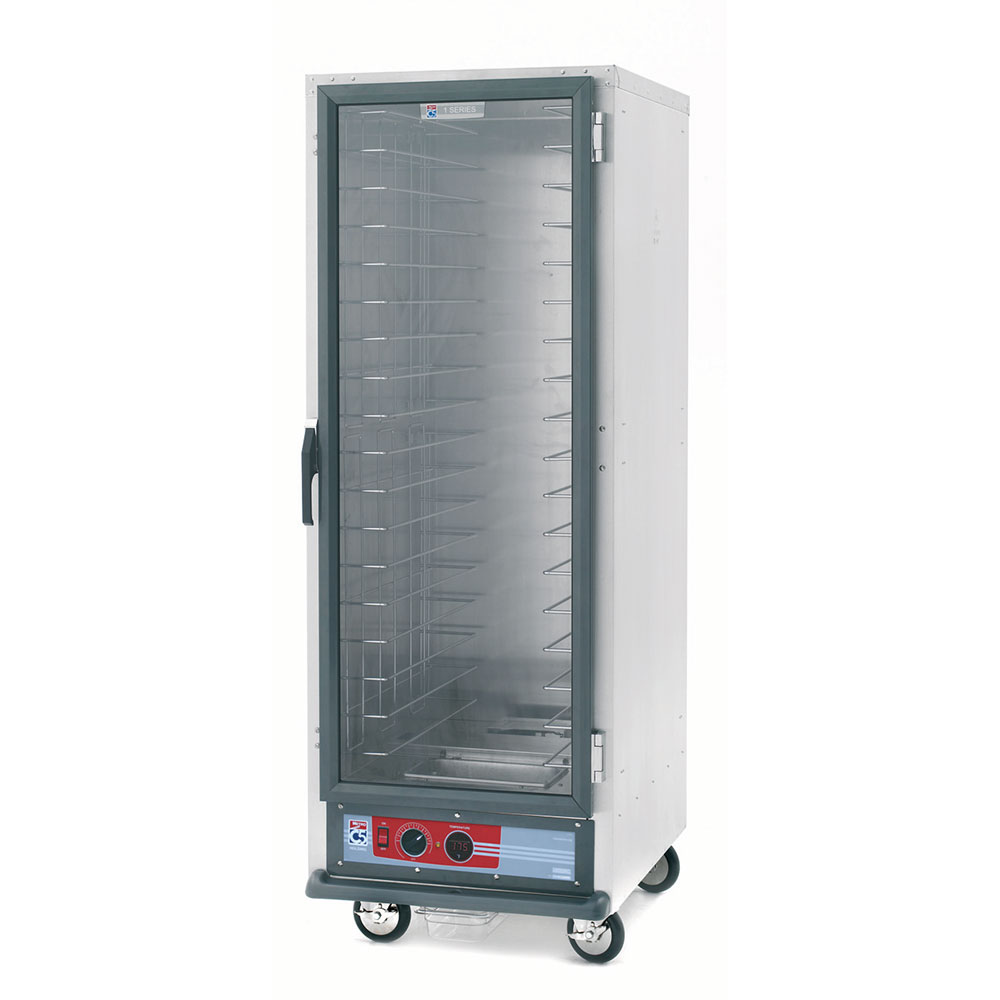Metro C519-PFC-4 Full Height Heated Holding & Proofing Cabinet, Clear Door, Fixed Wire Slide