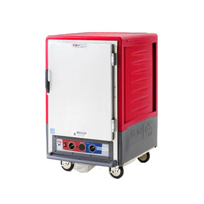 Metro C535-HLFC-L 1/2-Height Mobile Heated Cabinet w/ (17) Pan Capacity, 120v