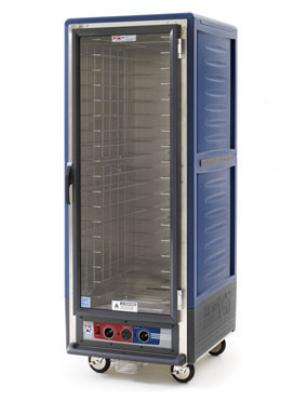 Metro C539CFC4BU C5 Full Height Heated Proof & Hold Cabinet, Insulated, Clear Door, Fixed, Blue