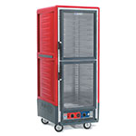 Metro C539HDC4 C5 Full Height Heated Holding Cabinet, Insulated, Clear Dutch, Fixed Wire Slides